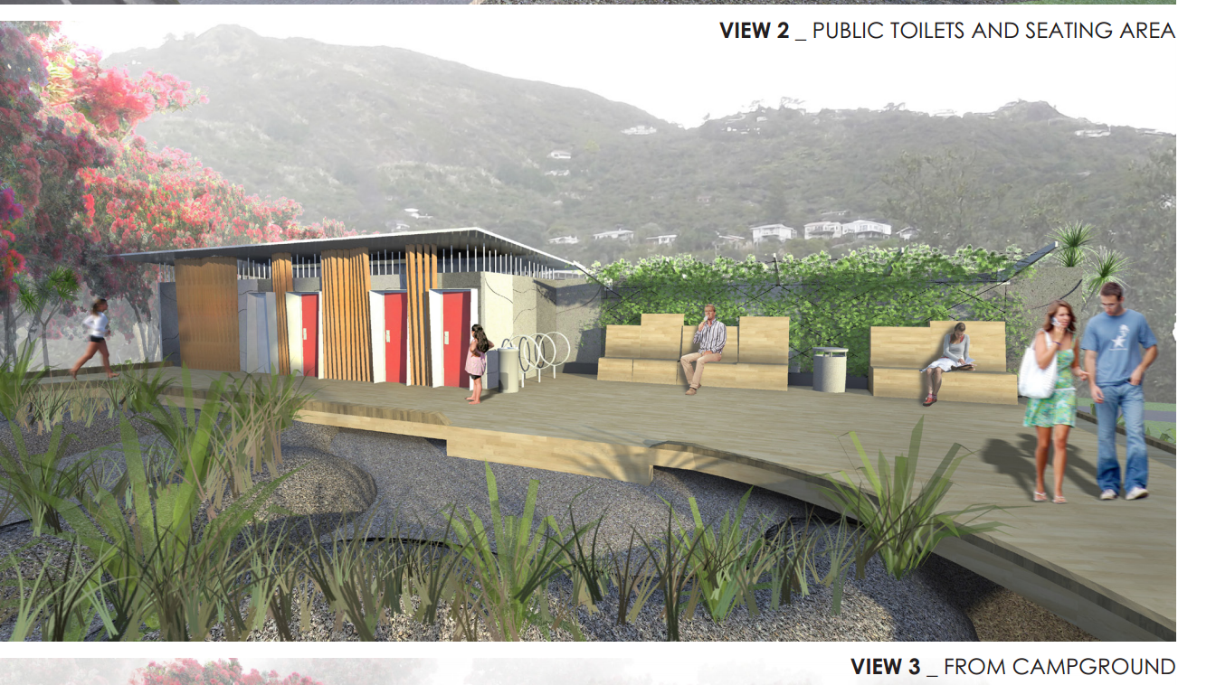 Piha New Changing and Lounge Complex awaiting a new  Artwork